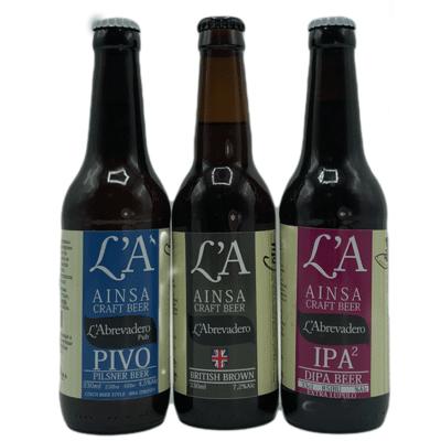 Cerveza LA Beer Ainsa Surtidas