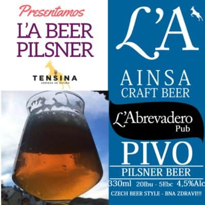 L'A Beer Pilsner. La nueva cerveza de L'Abrevadero
