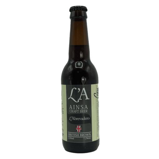 Cerveza LA Beer Ainsa British Brown (Pack 12)